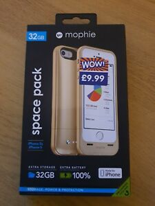 Mophie 32gb Space Pack (Gold) iPhone 5 / 5s - BRAND NEW