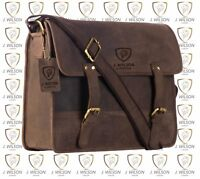 Leather Laptop Bag Designer Mens Ladies Shoulder Cross Body Work Messenger Case