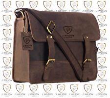Leather Laptop Bag Designer Mens Ladies Shoulder Cross Body Work Messenger Case