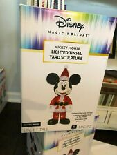 NEW Disney MICKEY MOUSE Christmas Holiday LIGHTED TINSEL Yard Sculpture DECOR