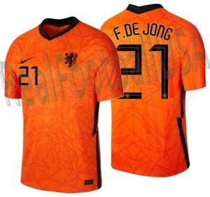 NIKE FRENKIE DE JONG NETHERLANDS HOME JERSEY 2020 2021