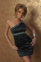 womens Pencil Dress One Shoulder Fitted Bodycon Mini Dress Prom Evening Dress UK