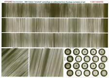 Aviattic Decals 1/32 FOKKER STREAKED ON LINEN CAMO Fuselage Turtledeck & Tail