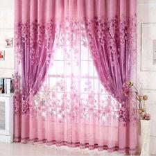 Floral Half Shading Curtain Window Treatment for Living Room Decor Drape Panel