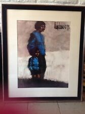 "Aldo Luongo Framed, Signed Color Lithograph! Large 3ft Tiempo Viejos ""Old Times"""