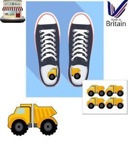 TRUCK CARTOON LEFT RIGHT KIDS SHOE TRAINER INSERT SOLE LOGO STICKER VINYL TRU105