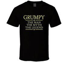 Grumpy the Man the Myth the Legend T Shirt Gift for Grandpa Papa Poppa Father