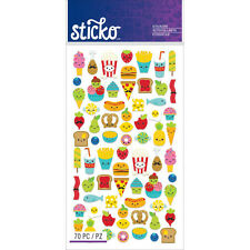 Scrapbooking Crafts Stickers Sticko Mini Food Fries Popcorn Pop Ice Cream Cheese
