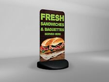 Fresh Sandwiches & Baguettes Served Here Eco Flex 2 Pavement Sign
