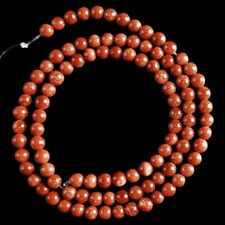 """V2768-z 4mm Gold Sand Stone Ball Loose Beads 15"""""""