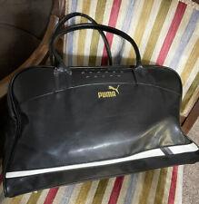 New listing Puma Gym Sport  Tote Bag Leather Black Zippered Top