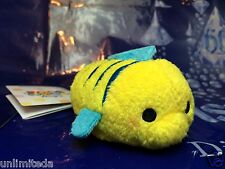 "Disney Store The Little Mermaid Flounder Mini Tsum Tsum 3.5"" Authentic NWT"