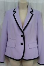 Nine West Blazer Sz 4 Lilac Purple Black Solid Film Business Cocktail Jacket