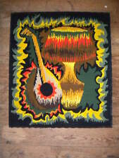 1950s Modern art tapestry French 64 x 53cms rock and roll Kitsch