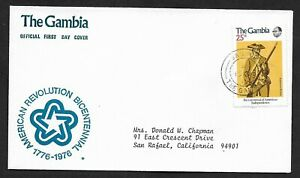 Gambia 1976 American Revolution Bicentennial First Day Cover