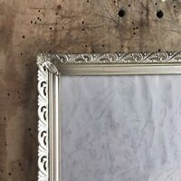 10x8 Antique Silver Frame Photo Convex Glass Danish Brass Wall Picture Farmhouse