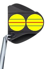 ODYSSEY TRIPLE TRACK 2-Ball ***YELLOW*** DECALS - No Cutting!  Just Apply!