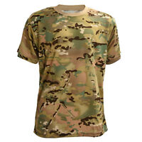 Camouflage T-shirt Men Breathable Sport Camo Camp Tees CP XL SHB3