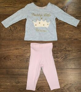 💕✨Baby Girls Summer Daddys Little Princess Outfit 0-3 months (Immaculate) ✨💕