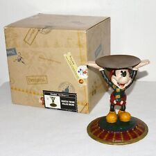 Disney Parks & Resorts Vintage Mickey Mouse Pillar Holder Resin Statue Figure Nw