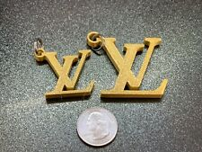 2 Louis Vuitton Lv Logo key chain - 3D Printed Gold