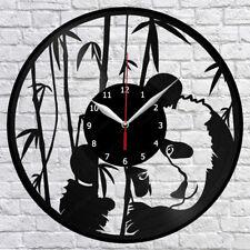 Adorable Giant Panda Wall Clock Cute Chinese Panda Vinyl Record Wall Clock Decor