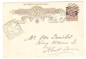 South Australia OFFICIAL POSTAL CARD-HG:D3-ON PUBLIC SERVICE ONLY.(38.5mm)