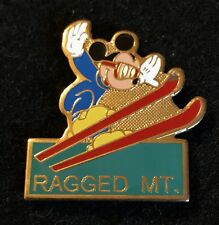 Ragged Mountain Mickey Mouse Skiing Ski Pin New Hampshire Souvenir Travel Lapel