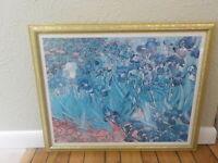 Vincent Van Gogh Irises wood framed poster professionally framed