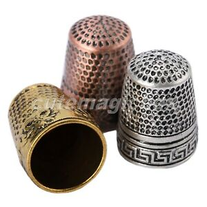 Sewer DIY Sewing Tools Metal Thimbles Finger-Fit Protector Sewing Grip Shield
