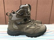 EUC VASQUE YOUTH KIDS BROWN LEATHER WATERPROOF TRAIL HIKING BOOT SIZE US 4M 7201