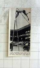 1951 Cornelius Warmerdam Holds World Pole Vault Record