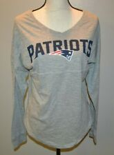BNWT! NFL Juniors Gray Patriot's V-Neck Long Sleeve T-Shirt Size XL MSRP $45