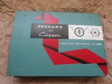 '56 PACKARD & CLIPPER COLORS AND UPHOLSTERIES FACTORY SHOWROOM CATALOG ORIGINAL