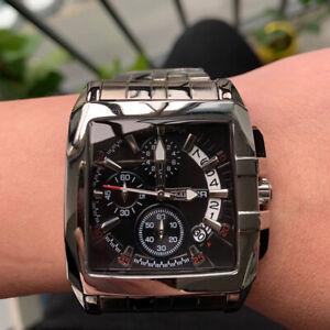 Megir New Business Men's Stainless Steel Quartz Watch Fashion Luxury Chronograph