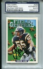 Junior Seau 1993 Topps #298 Autographed Signed PSA DNA Slabbed HOF Chargers