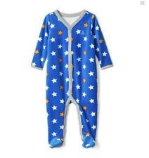 1ec289ea901f Baby Gap Boy Starry Velour Footed One Piece Romper Star Blue Size 0-3 Months