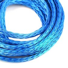 "Hot 3/16"" x 120"" Synthetic Winch Line Cable Rope 5600LBs Protective Sheath Blue"