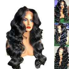 Curly Wave Hair Synthetic Lace Front Wigs Long Black Heat Resistant Black Women