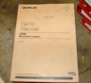 CAT Caterpillar 436B Backhoe loader Parts Manual book catalog shop spare list