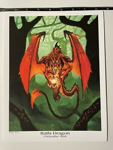Rathi Dragon High Quality Print MTG by Christopher Rush -authorized