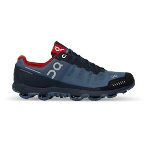 On Running Trail Running Shoes Cloudventure Mens Navy Red