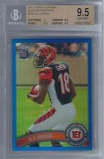 2011 A.J. Green Topps Chrome Blue Refractor RC- BGS 9.5 Gem Mint- Only 199 made