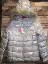 NWT THE CHILDREN'S PLACE GIRLS 5/6 IRIDESCENT FAUX FUR HOODED PUFFER JACKET COAT