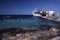 Kodak Slide Kodachrome USCGC Valiant Ship Cozumel 1986
