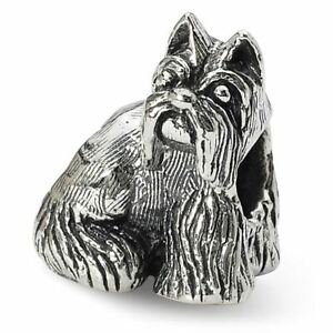 Sterling Silver Reflection Miniature Schnauzer Bead MSRP $125