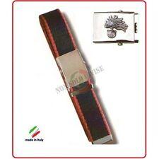 Cintura Canapa Bicolor Con Placca In Rilievo Carabinieri Fiamma Argento