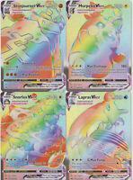 Pokemon COMPLETE 4 Card Sword Shield Secret Vmax Lot : Snorlax 203 206/202 +