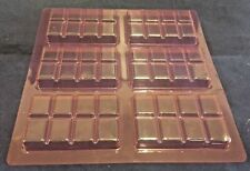 6 Mini Chocolate Bar Mould Sweets Slabs Mold Cake Biscuit Bars Treats