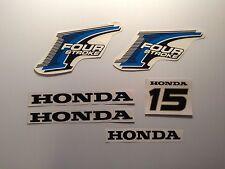 Honda 15 hp  Outboard decal set 4-Stroke   Marine Vinyl Decal Kit